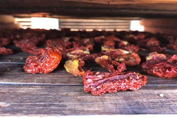 Fresh dried tomatoes