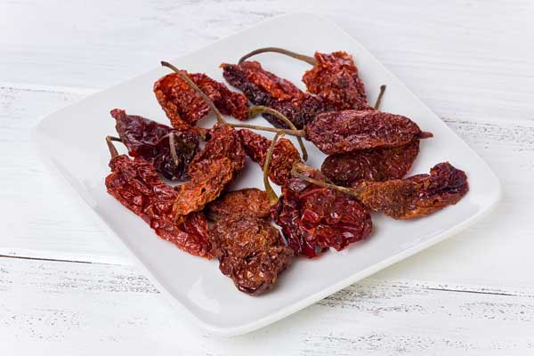 Capsicum Dried Indian chilies ghost peppers