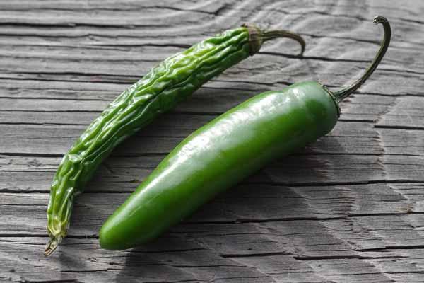 Capsicum green serrano chili Mexican chile
