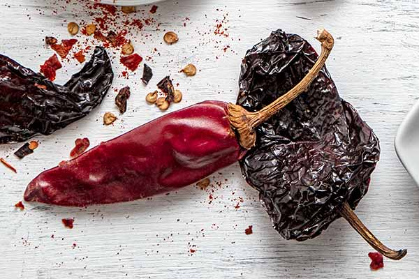 dried authentic Mexican chile capsicum chili peppers