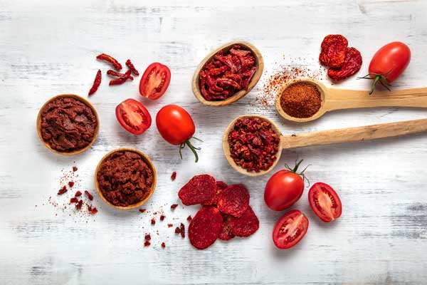 California dried tomatoes and paste