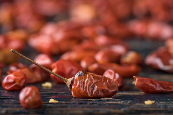Dried Peruvian Pequin Chile Peppers