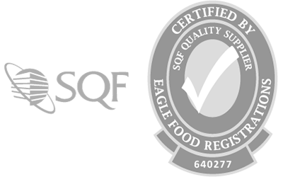 SQF Certified by Eagle Food Registrations