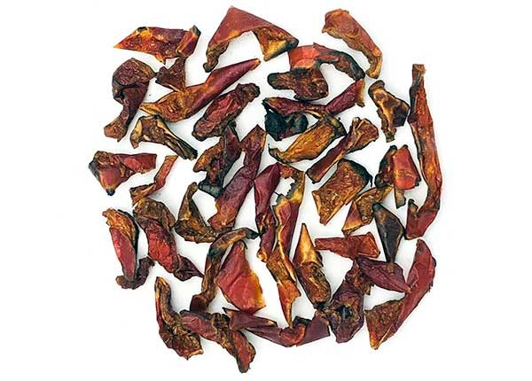 fire roasted dehydrated dried red bell pepper